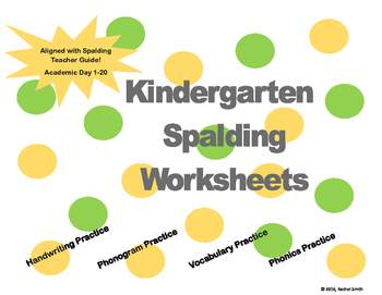 Spalding Kindergarten Academic Day 1-20 Worksheets