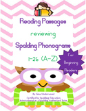 Spalding Phonogram 1-26 Reading Passages Beg Reader