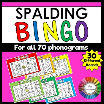 Spalding Phonogram Bingo Game
