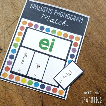Spalding Phonogram Cards and Matching Activity