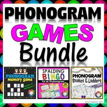 Spalding Phonogram Games BUNDLE