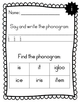 Spalding Phonogram Handwriting and Finding