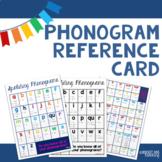 Spalding Phonogram Reference Card