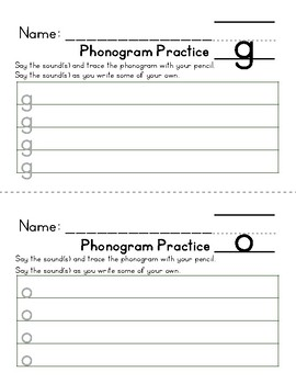 Spalding Phonogram and Manuscript Handwriting Practice