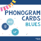 Alphabet and Spalding Phonograms for Classroom Display (Blues)