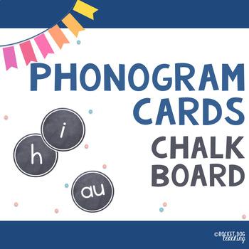 Spalding Phonograms for Classroom Display (Chalkboard)