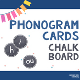 Alphabet and Spalding Phonograms for Classroom Display (Chalkboard)