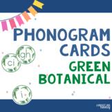 Spalding Phonograms for Classroom Display (Green Botanical)