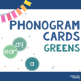 Spalding Phonograms for Classroom Display (Greens)