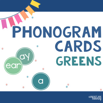 Alphabet and Spalding Phonograms for Classroom Display (Greens)