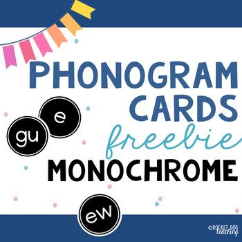 Spalding Phonograms for Classroom Display (Monochrome)