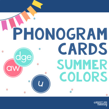 Alphabet and Spalding Phonograms for Classroom Display (Summer Colours)
