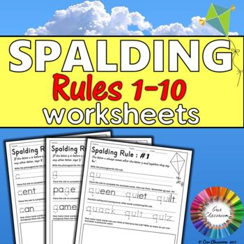 Spalding Rules 1-10 Worksheets