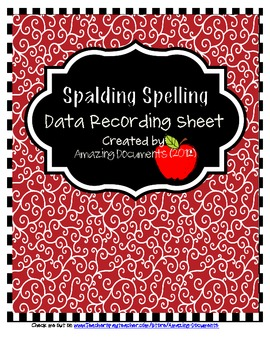 Spalding Spelling - Morrison McCall Recording Sheets (2nd - 5th)