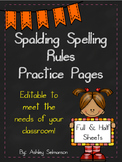 {Editable} Spalding Spelling Rules Practice Pages