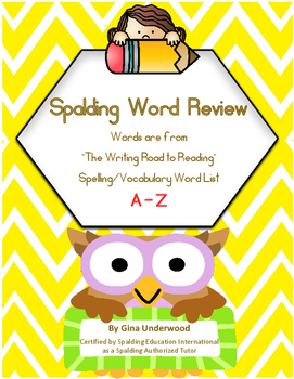 Spalding Word Review Section A-Z