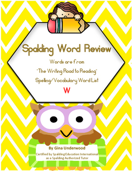 Spalding Word Review Section W