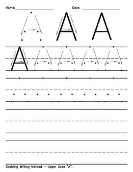Spalding Writing Method - Worksheets