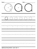 Spalding Writing Method - Worksheet - Lower Case a