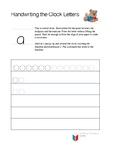 Spalding handwriting Phonograms Clock Letter a