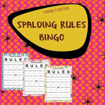 Spalding spelling rules BINGO