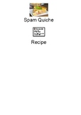 Spam Quiche - visually supported recipe picture supports