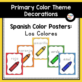 Spanish Color Word Posters (Los colores)
