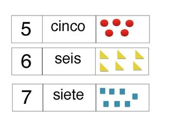 Spanish 0-10 addition puzzle