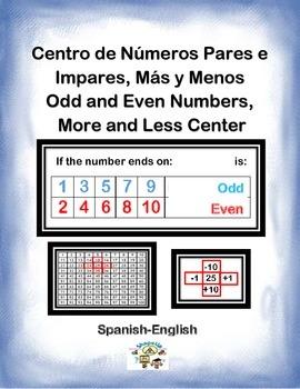 Spanish Math 1+, 10+, 1-, 10-, Odds and Even No./ +, - Par