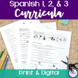 Spanish 1 & 2 & 3 Curricula BUNDLE