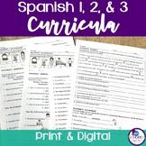 Spanish 1 & 2 & 3 Curricula BUNDLE