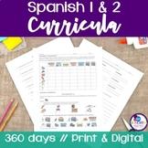Spanish 1 & 2 Curricula BUNDLE