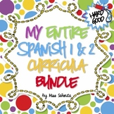 Spanish 1 & 2 Entire Curriculum BUNDLE - Hard Good