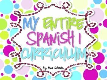 Spanish 1 & 2 Entire Curriculum BUNDLE - Hard Good