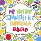 Spanish 1 & 2 Curriculum BUNDLE - Hard Good