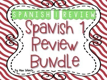 Spanish 1 & 2 {Semester 1s} Curricula BUNDLE