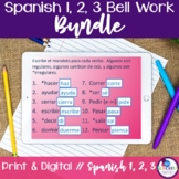Spanish 1, 2, and 3 Bell Work Bundle