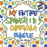 Spanish 1 & 3 Entire Curriculum BUNDLE - Hard Good