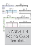 Spanish 1-4 Pacing Guide Template