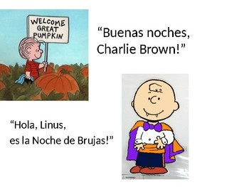 Spanish 1-5 Pumpkins Story with Charlie Brown