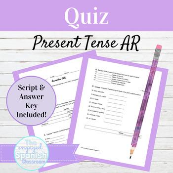 Spanish 1 AR VERBS QUIZ, Expresate 1 Chapter 3: Una prueba de los verbos -AR