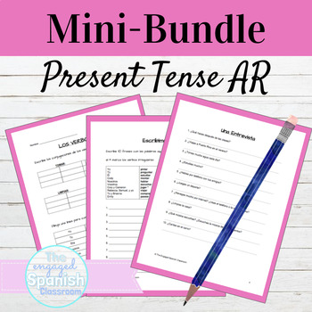 Spanish Present Tense AR Verbs Mini Bundle