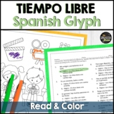 Spanish 1 reading & coloring activity about free time activities