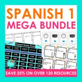 Spanish 1 Activities Mega Bundle | Task Cards, Conversatio