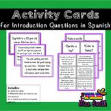 Spanish 1: Activity Cards for Saludos y Despedidas