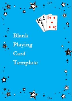 Spanish Go Fish Game: Adaptable BLANK Playing Card Deck - Spanish 1& 2