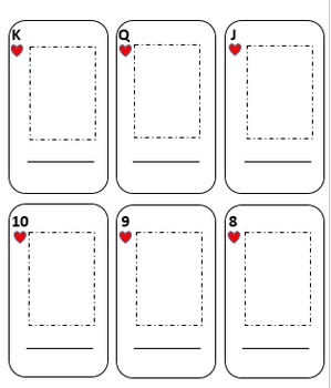graphic relating to Blank Printable Playing Cards known as Spanish Shift Fish Video game: Versatile BLANK Enjoying Card Deck - Spanish 1 2