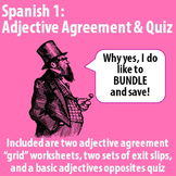 Spanish 1 - Adjective Agreement BUNDLE