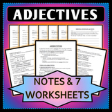 Spanish 1 - Adjective Agreement - Notes, Worksheets, and Activity