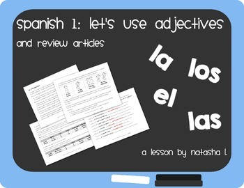 Spanish 1:  An Introduction to Adjectives